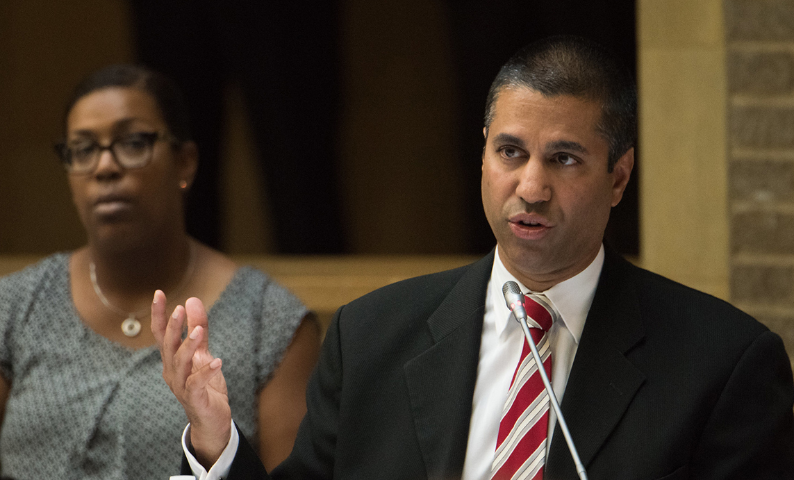 profile shot of chairman pai of the fcc